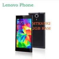 "New 5.5"" MTK6592 Octa Core Lenovo Phone  2GB RAM Android 4.4  GPS 3G WCDMA Smart Wake 1920*1080 HD Screen 13mp Camera phone"