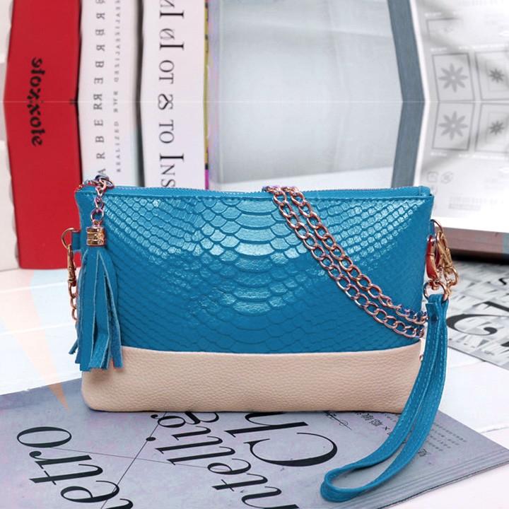 New 2014 Women Synthetic Leather Vintage Design Tassel Bag Clutch handbags Day Shoulder Messenger Bag 5 Colors 31(China (Mainland))