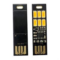 free shipping  Mini USB Power 6 LED SoShine 1W warm White USB mini pocket 6-LED lamp light for laptop camera 1pcs