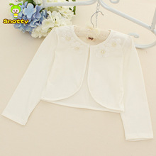 Snotty fashion white cotton kids sweaters girls flower outcoat kids clothes kids cardigan children for 2-7 years old KC-1533(China (Mainland))