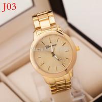 Geneva Watches Women 2015 New Alloy Band Quartz Watches Men Gold Watch Brand Analog Watches Top Quality-RA025