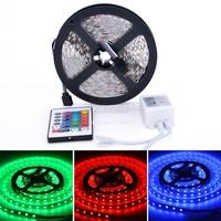 Promotion 5M SMD RGB 5050 LED Strip light 300 Leds &24 Key IR Remote&12V 5A Red Green Blue Light B16 SV008925