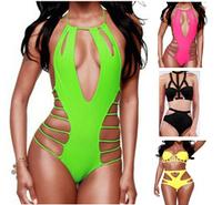 2015 Women High Waist Bikini set, Push Up Symmetrical Cut Out Swimwear Swimsuit, Brand Bikinis bathing suit Hollow Out biquini