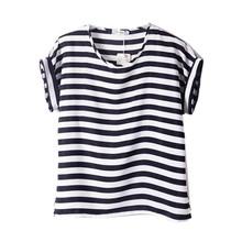 Hot Selling Lots Women Lady Batwing Chiffon Blouse T-Shirt Casual Printed Tops Shirts Free Shipping