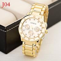 New Watches Brand Geneva Watches Women Men Sports Hours Wristwatch Fashion watches Women jewelly clock-RD1355-a
