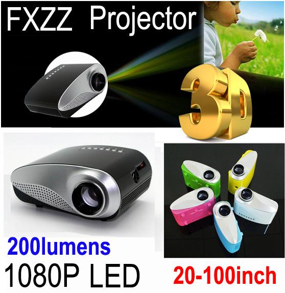 1080P Mini 3D Projector Multimedia LED Projector Home Education Cinema AV TV VGA HDMI USB TF Free Shipping for Russia Brazil(China (Mainland))