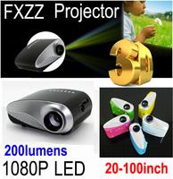 1080P Mini 3D Projector Multimedia LED Projector Home Education Cinema AV TV VGA HDMI USB TF Free Shipping for Russia Brazil