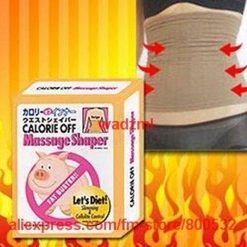 500pcs/lot calorie off Slim Fat Slimming Diet Waist Massage Shaper Black and beige color DHL free shipping