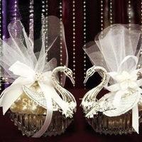 EMS FREE SHIPPING Wedding favors/Wedding Decoration-Gorgous Wedding Swan favor box- wholesale & retail