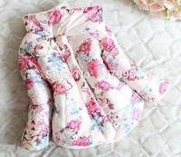 Retail Free shipping Autumn Winter New Arrival girl flower jacket,girl coat,children jacket
