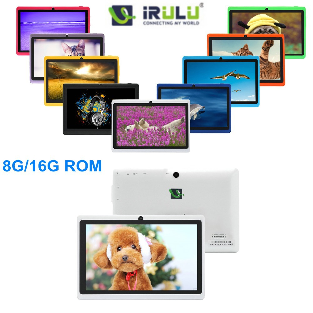 IRULU X1 7'' Android 4.2.2 Tablet PC Dual Core 8GB/16GB ROM Dual Cameras 3G External 2014 New Cheap Tablet High Quality Hot(China (Mainland))
