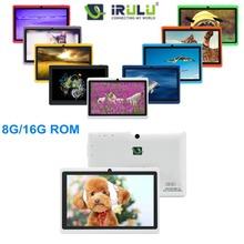 Irulu X1 7 '' Android 4.2.2 Tablet PC Dual Core 8 GB / 16 GB ROM câmeras Dual 3 G externo 2014 novo Tablet barato alta qualidade Hot(China (Mainland))