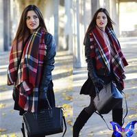 2014 New Women Winter Scarves Imitation Cashmere Multi-Colored Plaid Scarf Shawls Bufandas Soft Cute Scarf  140 * 140 CM