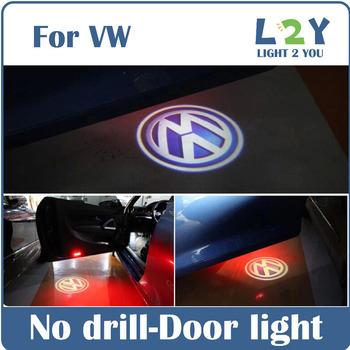 Cигнальный светодиодный фонарь открытой двери автомобиля с логотипом Проектор с логотипом VW для Volkswagen VW Golf Jetta MK5 MK6 CC Tiguan Touareg Passat B6 Scirocco EOS