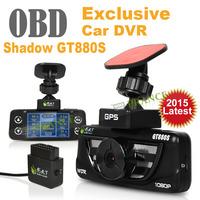 E-prance Original Shadow GT880S Car DVR Camera Video Recorder OBD Diagnostic Internal GPS Speed Display/Warning 24h ParkingGuard