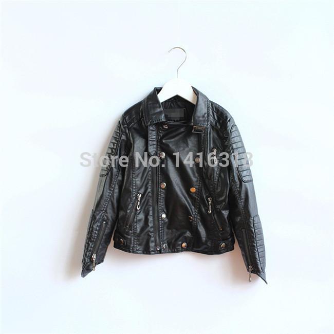 2015 moda Z * meninas couro jaqueta de couro jaqueta infantil menina meninos PU casacos de couro casaco inverno menina jaqueta para crianças(China (Mainland))