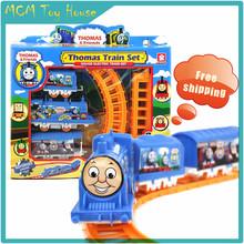 Analog electric rail toy train Thomas train baby children's toy car model(China (Mainland))