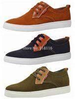 Men's canvas casual shoe Lace Up Flats  Rubber Sole hot sale fashion men casual  Shoes