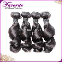 4pcs Lot Brazilian Loose Wave Human Hair Good Quality Unprocessed Virgin Brazilian Hair Weaves, Ali Favorite Hair Extension