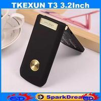 TKEXUN T3 Women Flip Phone With Camera Bluetooth Dual Sim Card 3.2 inch TouchScreen Cell Phone(Can choose Russian Keyboard)