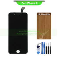 Original digitizer display for iphone6 lcd touch screen assembly for iphone 6 + free tools and clear film
