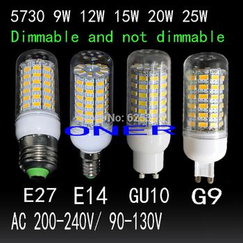 Затемнения bombillas из светодиодов лампы свет лампы E27 E14 G9 GU10 из светодиодов 9 Вт 12 Вт 15 Вт 20 Вт 25 Вт AC 220 В 110 В SMD5730 из светодиодов кукуруза лампа люстра