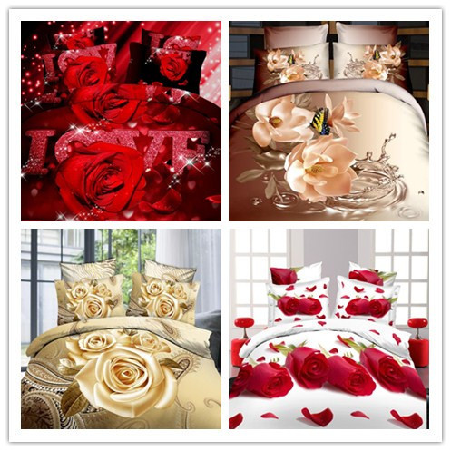Home Textiles,3D bedding sets,King size 4Pcs of duvet cover bed sheet pillowcase,bedclothes,Free shipping(China (Mainla