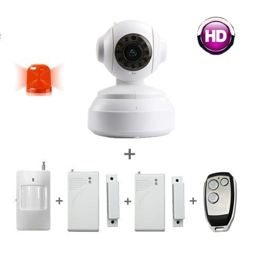 Free and fast Shipping! wireless alarm systems security home , IP camera wireless / remote control / PIR sensor / door contact(China (Mainland))