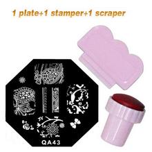 Nuovo 60 opzionale disegni nail art stampaggio lamiere immagine del timbro manicure fai da te modello per 1 piastre +1 stamper + 1 raschietto(China (Mainland))