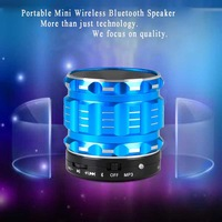 Brand New Portable Mini music Bluetooth Speakers Metal Steel Wireless Smart Hands Free Speaker With FM Radio For  mobile device