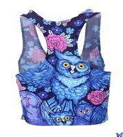 Fashion Woman Casual Clothes Galaxy Adventure Time Owl Printed Sleeveless Elastic Bustier Crop Tops Herringbone Tank Top