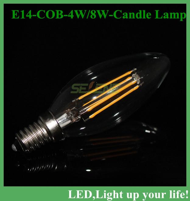 E14 220V AC LED Filament Candle Bulbs 360 Degree corn bulb New Design led lamp 3W 4W 8W Led Bulb Light Lamp(China (Mainland))