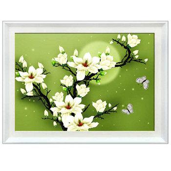 3D цветок магнолии вышивки крестом комплект, 5D сделай сам алмаз живопись вышивка рукоделие, счетный крест комплекты, алмазная мозаика декор