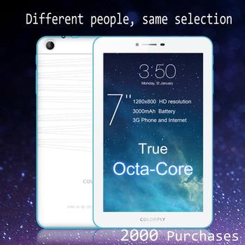 Оригинальный Colorfly G708 Octa ядро 3 г планшет пк телефон MTK6592 7 дюймов IPS OGS экран 1280 x 800 3 г телефонный звонок GPS андроид 4.4 3000 мАч