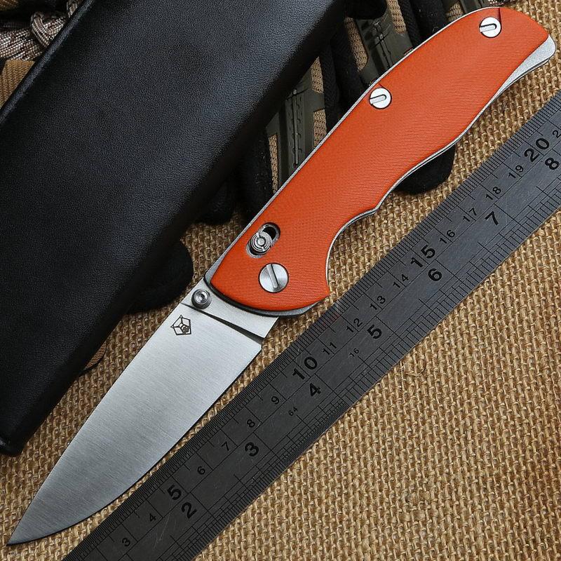 Shirogorov Tabargan 95 tático lâmina D2 de faca dobrável G10 lidar com s