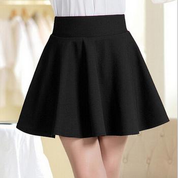 Лето короткая юбка для женщин 2015 сарафан все подходят юбки белый черный цвет одежда ...