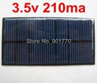 3.5V 210mA 0.735W mini solar panel PV solar power PCB panels charge 2.4v battery small solar panel solar power free shipping
