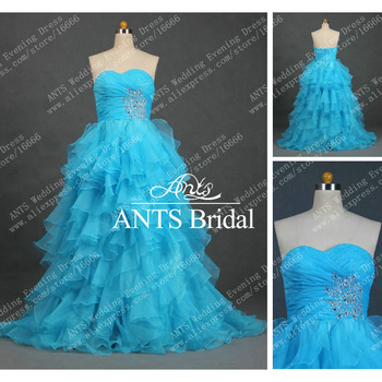 New designer Organza long Beaded Formal Prom Gown FB061