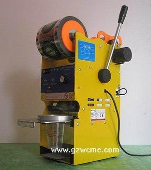 WCS-S1,Semi-auto Cup sealing machine,bubble tea cup sealing machine,boba tea equipment,semi cup sealer,plastic cup sealer