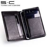 Best Selling 100% Sheep Leather case for Iphone 4g 4 4s 5g 5 the best style case  for Iphone Accessories wallet  OLDPH00006