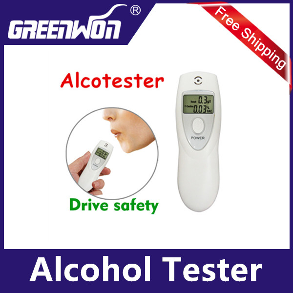 Mini Semiconductor Digital display results alcohol tester breathalyzer Alcohol Detector analyzer with Red backlight display(China (Mainland))