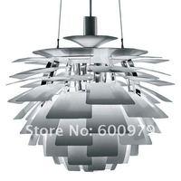 Free shipping + 92 CM Aluminium Color Poul Henningsen PH Artichoke  Pendant Lamp