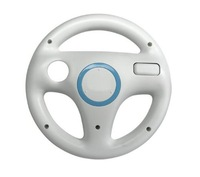 Free shipping.STEERING WHEEL FOR Wii MARIO KART RACING GAME White FOR Nintendo NEW