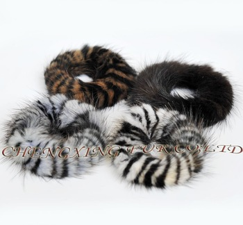 5 PCS CX-E-11 Mink Fur Elastic Hair Accessories ~ Mixed Colour ~ DROP SHIPPING