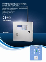 Wholesale and retail wireless security alarm system   LCD display with keypad alarm panel   16 zone wireless alarm console