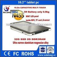 10inch  MINI tablet PC with CPU Intel Atom N455 1G RAM  32G SSD with aluminium