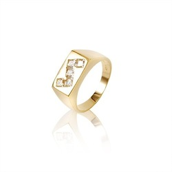 Free Shipping!!! Men&#39;s 18KGP Yellow Gold 1.6 CT Princess Cut Grade AAA CZ Diamond Engagement Ring, Come With A Box! (111124-12)(China (Mainland))