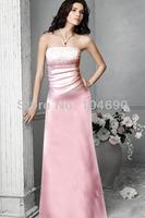 free ship,New strapless Debutante dress,fashion dress,Junior Bridesmaid Dresses,A-line, pink