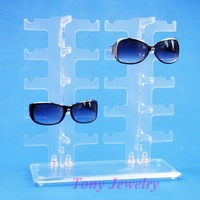 Free Shipping Sunglass Display Stand Holder Rack For 10 Pairs 120411RY-SUNS04I