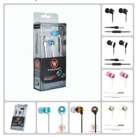 Wallytech 100x For iphone earphone meatal earphone for iphone all model with mic and button For Blackberry  (WHF-081)